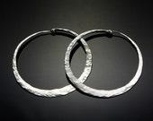 X Large Hoop Earrings  // 2 inch Big Hoop Earrings // Large Sterling Silver Hoop Earrings