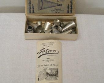 Vintage 27 Pc Ateco Cake Decorating Set & Booklet
