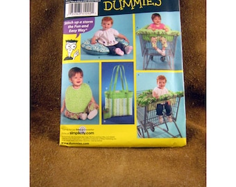 Simplicity Baby Accessories Sewing Pattern – Diaper Bag,  Cart Seat, Bib, & Pillow Cover – Uncut Pattern #3561 Sewing for Dummies