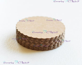 "144 Scalloped Circle II Size 1.50""  -Scalloped Circles die cuts -Cardstock tags -Scalloped labels -Paper die cuts -Paper Die cuts"