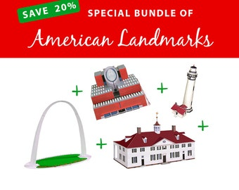 BLACK FRIDAY Cyber Monday Bundle of American Landmarks, SAVE 20%