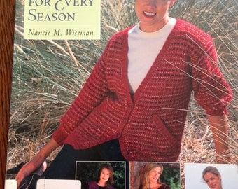 Knitted Sweaters for Every Season by Nancy Wiseman sweater patterns, beginning knitting, learn to knit