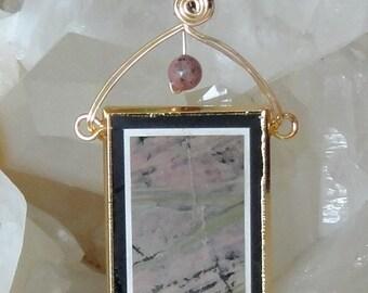 Wire Wrapped Picture Jasper Inarsia Pendant