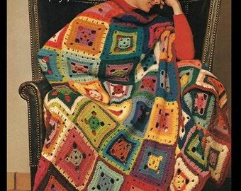 Crochet Afghan Pattern - Left Over Yarn Pattern - PDF 01171862