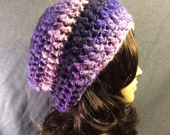Purple Pink Slouch Hat FREE SHIPPING