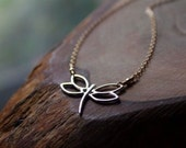 Dragonfly Necklace - Mixed Metals