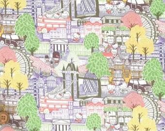 Liberty Tana Lawn Fabric, Liberty Japan Limited, Capital Hello Kitty, Liberty Print Cotton Scrap, Kawaii Patchwork Quilt Fabric, ntkitty41f
