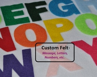 Custom Felt Names, Words, Phrases, Numbers  - Choose your size: 1 inch to 8 inches +