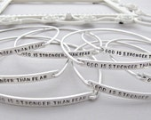 Bangle Bracelet, Silver Bar Bangle, Silver Nameplate Bangle, Engraved Bracelet, Personalized, Bracelet, Long Bar Bracelet
