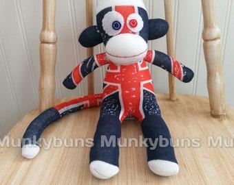 Union Jack Sock Monkey - Small
