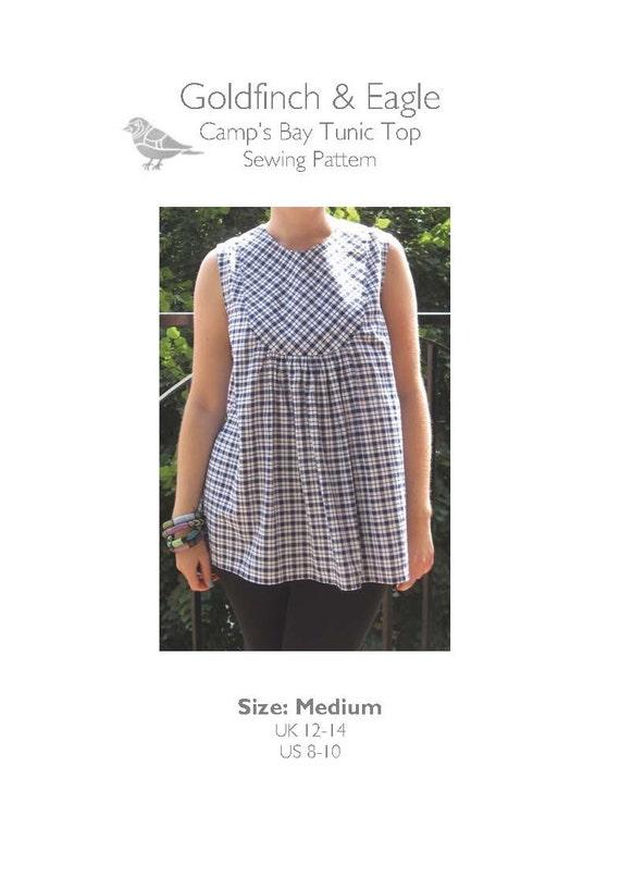 Medium PDF Sewing Pattern 'Camp's Bay' UK 12-14 US 8-10