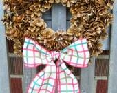 Handmade PINECONE Wreath 107