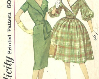 Simplicity 3507 / Vintage Sewing Pattern / Dress / Size 12 Bust 32