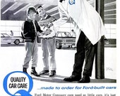 1963 Ford, Lincoln, Mercury Car Advertisement Print Poster - Automobile Mechanic Shop Garage Dealership - Mid Century Wall Art Home Decor