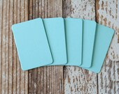 50pc Pale TURQUOISE Blue Lakeland Series Business Card Blanks