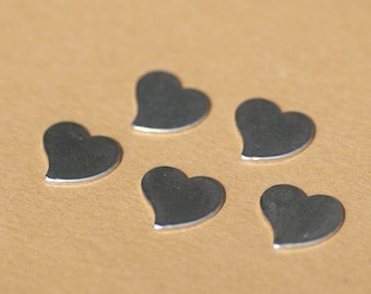 Sterling Silver 24g Heart Whimsy Metal Blanks Shape Form  - 925