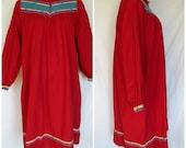 1970/80s Festival Dress, Made in India, Appliqued, Cotton, Hippie, Karavan, Medium Large