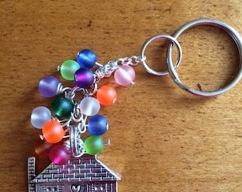 Up Movie Inspired Key Chain, House Charm, House Key Ring, Purse Charm, Key Ring