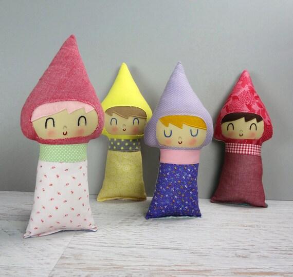 Gnome Baby... Custom Made doll, rag doll, custom doll, shower gift, baby gift, Christmas gift, girl gnome, boy gnome