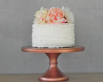 "18"" Wedding Cake Stand Pedestal Cake Stand Rose Gold Copper Rustic Wedding Decor E. Isabella Designs. As Featured In Martha Stewart Weddings"