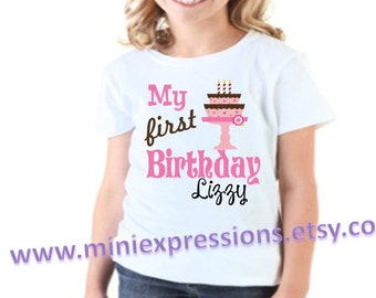 My First Birthday shirt personalized