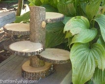 Rustic 4-Tiered Stand Candles Flowers Wedding Table Center Piece Home Decor
