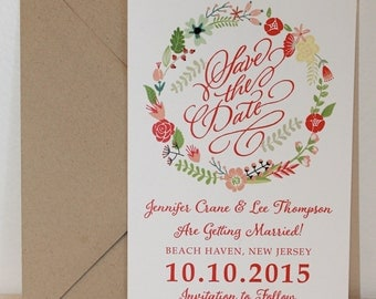Floral Wreath - Save the Date