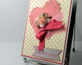 Valentines Day Card Handmade Sweet Roses for my Valentine Choice of Sentiment