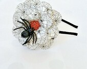Spider and Web Paper Mache Daisy Headband
