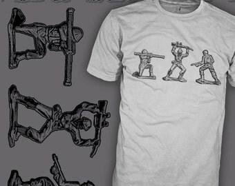 U2 Shirt - Sunday Bloody Sunday - Army Men Toy - Kustom Art T-Shirt