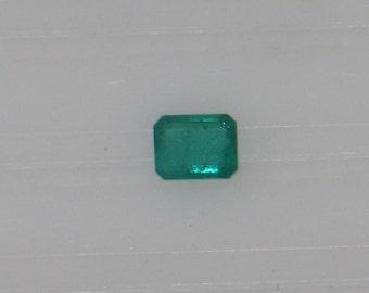 Emerald -  0.46 Carat - Medium Emerald Green - Good Native Cut - Good Clarity - Very Pretty Gem