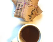 Coffee Wedding Favors. Unique Airmail Design for Destination Weddings. Custom edible wedding gifts. Set of 40.