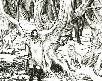 The Hunter A4 Print