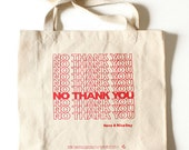 No Thank You canvas tote