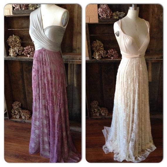 Chiffon Infinity Dress: Vintage Style Lace Or Chiffon Long Infinity Wrap By
