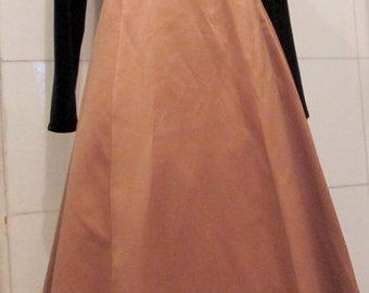 Vintage Gold and Black Evening Dress / Holiday Dress