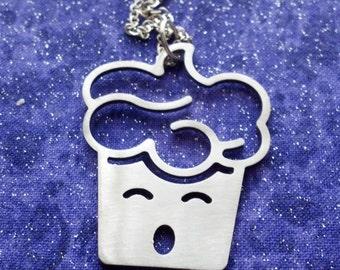 Oh Nooooo Mr Bill Cupcake - Necklace Pendant or Keychain