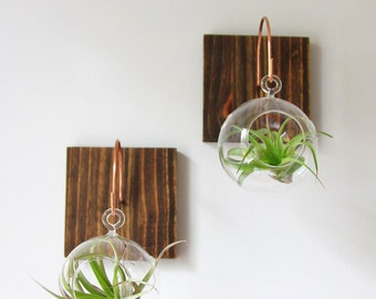 Wall Plant Decor triangle wall mount plant holder // modern wall decor //