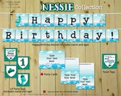 Nessie Collection - DIY Printable Loch Ness Monster Party Decorations | Birthday Decoration | Monster | Scottish | Scotland | First Birthday