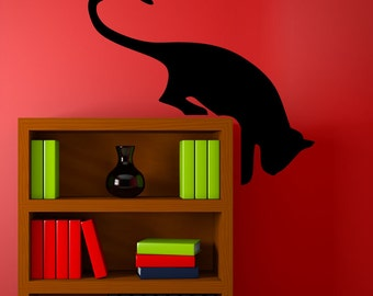 Vinyl Wall Art Decal Sticker Hanging Cat 5491s