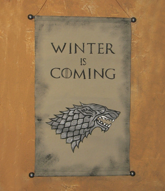 Large Hand Painted House Stark Winter Is Coming