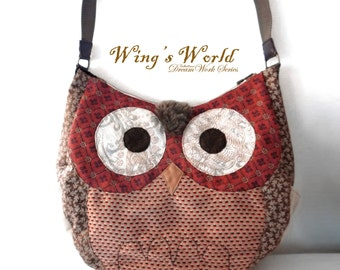 Owl Bags/ Owl Handbag/ Animal Bag/ Shoulder Bags / Fashion Totes Bags / Owl Gifts / Women Bags / Hand Bags / Leather Detail