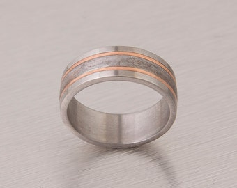 Meteorite Ring with Gold