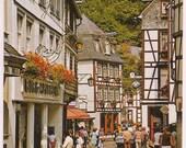 Germany Postcard - Monschau Eifel Travel Souvenir Post Card - Travel Information Card - Montjoie Tourists - German Travel Tourist