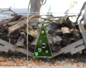 Fused Glass Holiday Tree Ornament