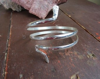Sterling Silver Snake Arm Bracelet