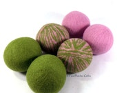 Wool Dryer Balls - Spring has Sprung - Set of 6 Eco Friendly - Can be Scented or Unscented