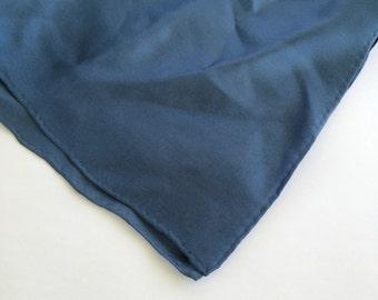 Dark Blue Pocket Square Navy Blue Pocket Puff Vintage Hanky Handkerchief Men Women
