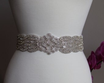 Elegant and gorgeous rhinestone trim, bridal sash, wedding sash, bridal belt, rhinestone belt, rhinestone sash, rhinestone applique