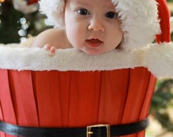 Sale Santa Basket Baby Prop Photo Christmas Gift Photography Studio Jingle bells elf reindeer bucket